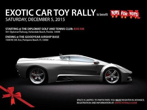 The Bitcoin Lamborghini at Toys for Tots - Giving Happiness!