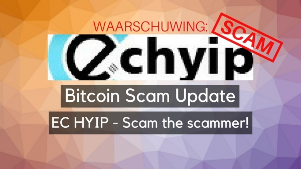 Bitcoin Scam Update: Aangemeld bij scam verkoper! EC HYIP!