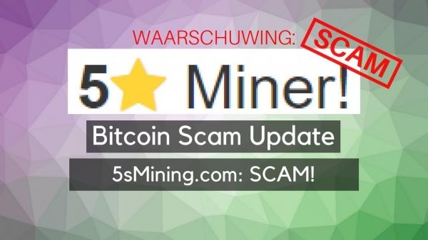 Bitcoin Scam Update: 5sMining.com: 100% SCAM!